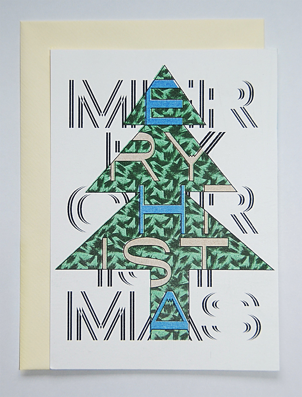 "Daniela Wiesemann Weihnachtskarten ""MERRY CHRISTMAS""; Risodruck; Set 12 Euro"
