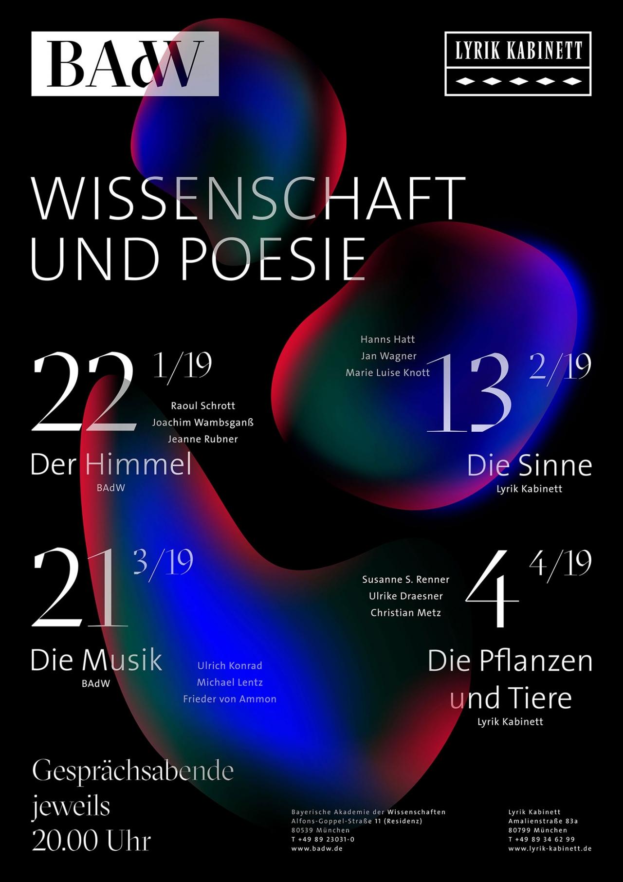 Daniela Wiesemann BAdW – Wissenschaft und Poesie – Veranstaltungsplakat