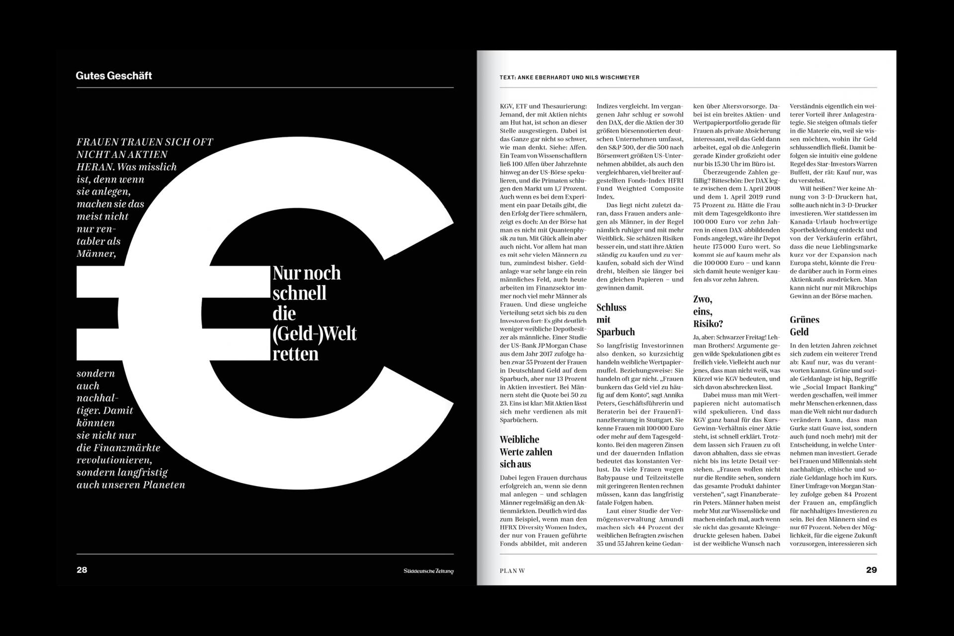 Daniela Wiesemann PLAN W – Ein Heft zum Thema Weitblick